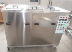 3槽式手动超声波喷淋清洗机