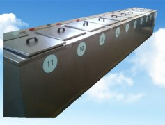 11槽手动铜管铝管超声波清洗机流水线
